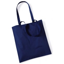 Blue Cotton Bags Long Handles