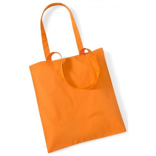 Orange Cotton Bags Long Handles