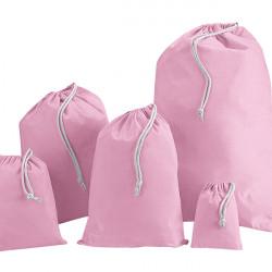 Pink Cotton Drawstring Bags