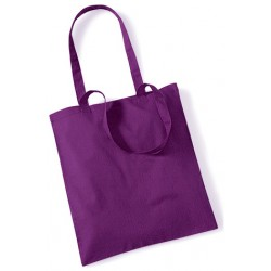 Purple Cotton Bags Long Handles
