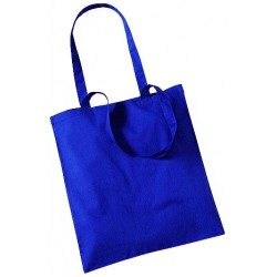 Royal Blue Cotton Bags Long Handles
