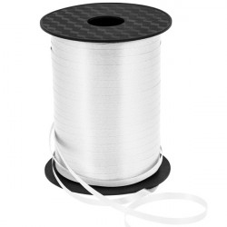 5mm White Curling Ribbon