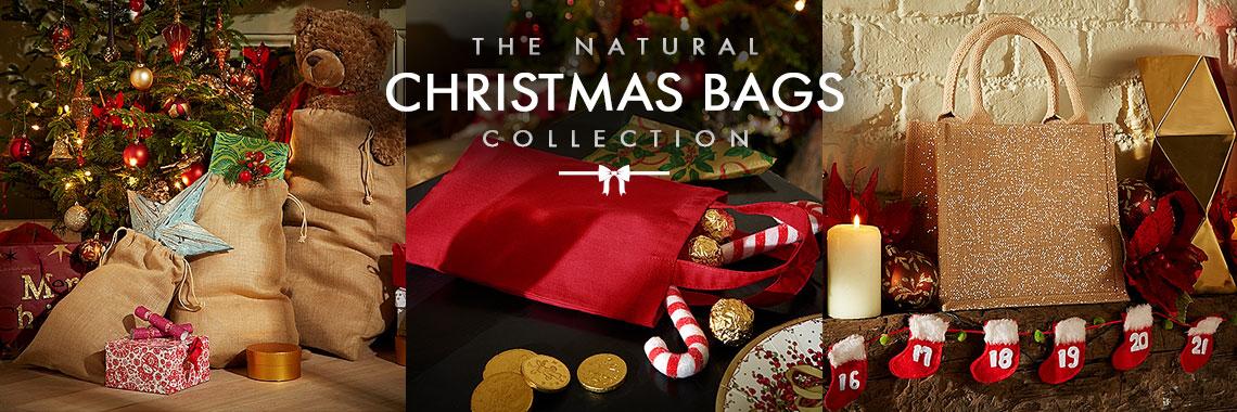 Natural Christmas Bags