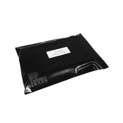 180mm Black Eco Mailing Bags