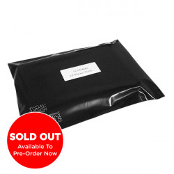 250mm Black Eco Mailing Bags