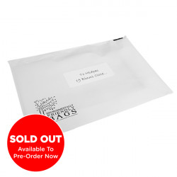250mm White Eco Mailing Bags