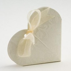 Cream Embossed Heart Boxes