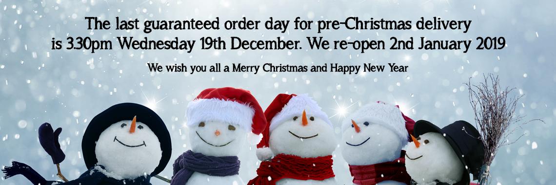 Christmas Ordering Date