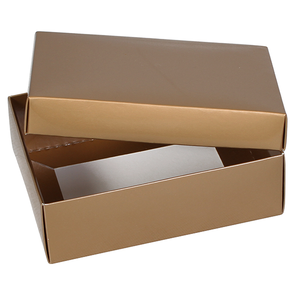 Large Gold Favor Boxes : Flat packed simplex gold gift boxes from midpac gloss