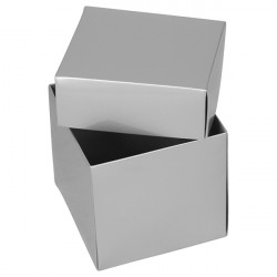 Silver Cube Boxes