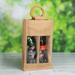 Double Bottle Jute Bags