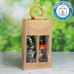 Double Bottle Jute Bags