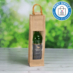 Single Bottle Jute Bags