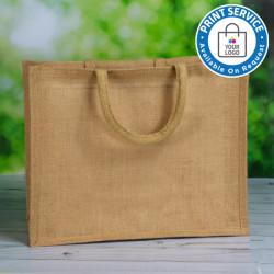 410mm Padded Handle Natural Jute Bags