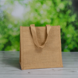 300mm Natural Jute Bags With Soft Web Handles