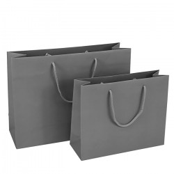 400mm Grey Paper Carrier Bags