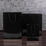 Black Gloss Paper Carrier Bags