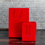 Red Gloss Paper Carrier Bags