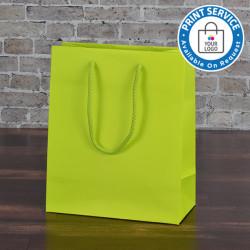 200mm Citrus Matt Laminated Paper Carrier Bags