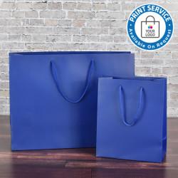 200mm Regency Blue Matt Laminated Paper Carrier Bags