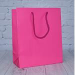 Fuchsia Matt Paper Carrier Bags