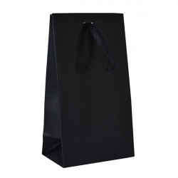 Black Matt Laminated Ribbon Bags