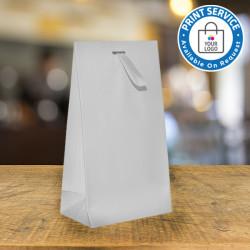 White Matt Laminated Ribbon Bags