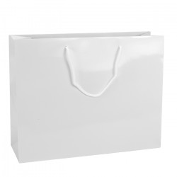 410mm White Gloss Laminated Paper Carrier Bags