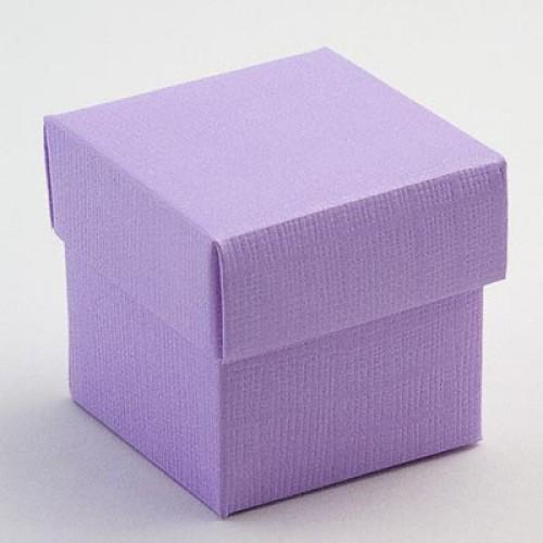 Lilac Square Favour Boxes