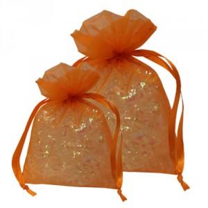 Orange Organza Bags