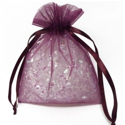 Plum Organza Bags
