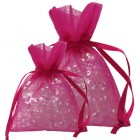 Shocking Pink Organza Bags
