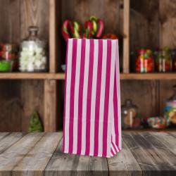 Pink White Striped Pick n Mix Paper Bags