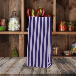 Purple White Striped Pick n Mix Paper Bags