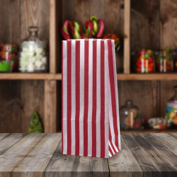 Red White Striped Pick n Mix Paper Bags