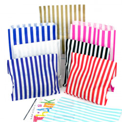 7x9in Candy Striped Paper Bags