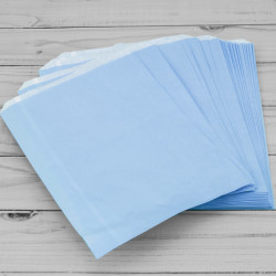 7x9in Baby Blue Paper Bags