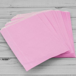 7x9in Baby Pink Paper Bags