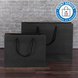 300mm Black Paper Carrier Bags