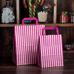 Striped Paper Carrier Bags