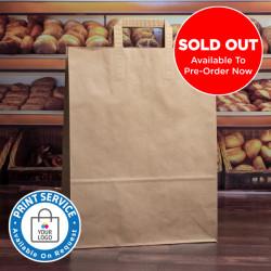 320mm Brown Paper Carrier Bags Internal Handles