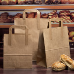 Brown Taped Handle Paper Carrier Bags
