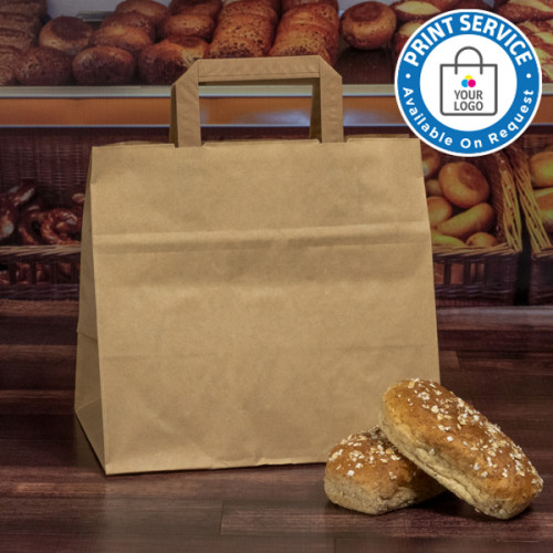 320mm Brown Wide Based Paper Carrier Bags