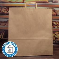 450mm Brown Paper Carrier Bags Internal Handles