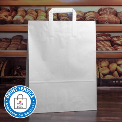 320mm White Paper Carrier Bags Internal Handles