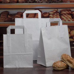 White Taped Handle Paper Carrier Bags