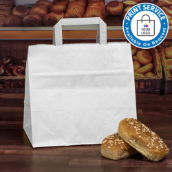 260mm White Wide Based Paper Carrier Bags
