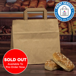 260mm Brown Wide Based Paper Carrier Bags
