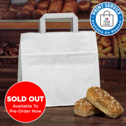 320mm White Wide Based Paper Carrier Bags