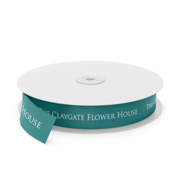 Claygate Flowers Printed Ribbon - French Blue(0332)